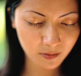 Woman Closing Eyes
